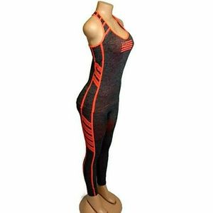 Pants - 2pc Leggings Set Orange & Grey Athletic Wear